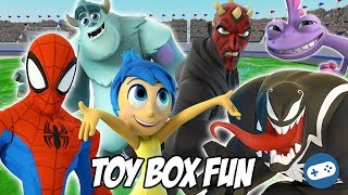 Heroes VS Villains Disney Infinity Toy Box Fun Gameplay Part 3
