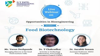 Opportunities in Bioengineering| Session 4: Food Biotechnology