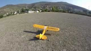 Hobbyking Piper J3 Cub 1400mm EPO - Crash