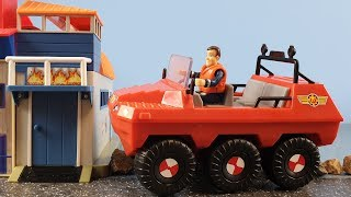 Fireman Sam Toys Episode 28 New Hydrus Wallaby Fire Boat House Firefighter Sam Toy Ocean Rescue