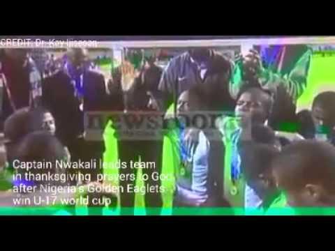 Nigeria's five star FIFA Champs thank God