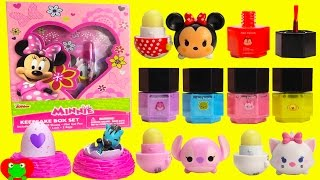 Disney Tsum Tsums Lip Balms Nail Polishes and Hatchimals Collectibles Surprises