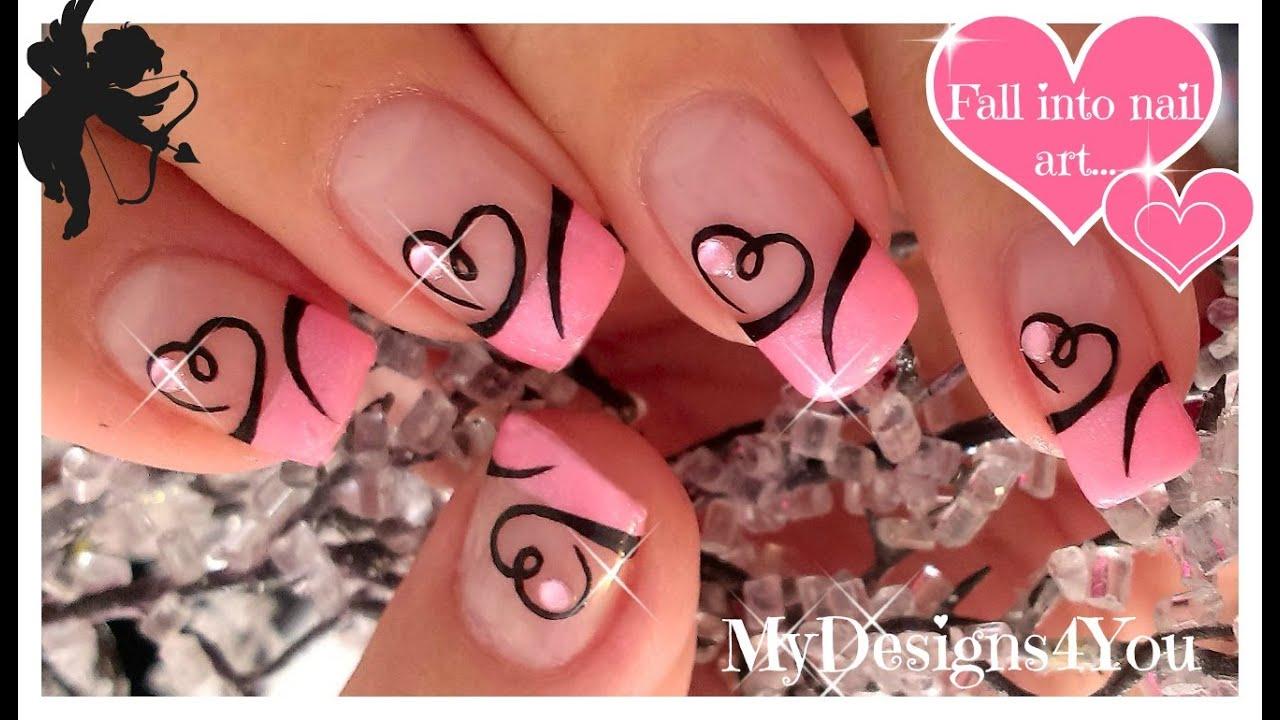 36 Cute Nail Art Designs For Valentines Day Nail Nail Makeup And