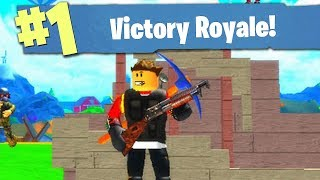 VICTORY ROYALE IN FORTNITE ROBLOX!