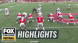 Justin Fields scores his first TD with Ohio State | FOX COLLEGE FOOTBALL HIGHLIGHTS