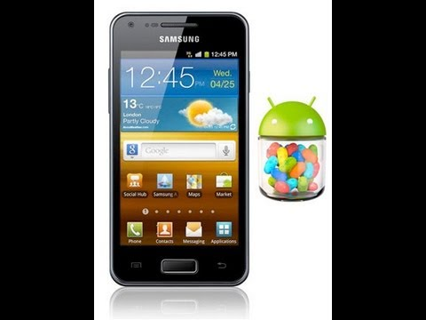 how to install official jelly bean on galaxy s advance
