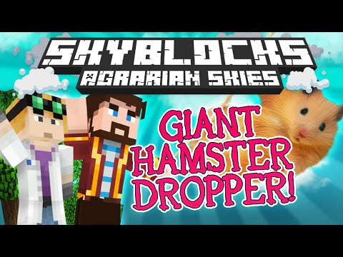 Minecraft - Hardcore Skyblock Part 69: Giant Hamster Dropper (agrarian Skies Mod Pack) video