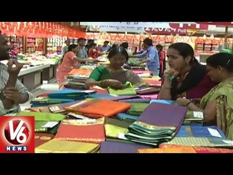 Ashadam Sales | Shopping Malls Attract Customers With Special Offers | Hyderabad | V6 News