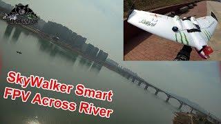 Skywalker Smart FPV Wing Maiden FPV Flight Crossing the River
