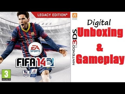 Fifa 14 Nintendo 3DS Digital Unboxing & Gameplay Aston Villa VS Arsenal