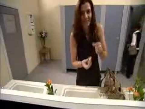 Hidden camera in girls toilet ... Funny video