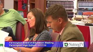 Farmington Board of Education 8-27-18