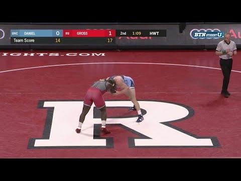 Big Ten Wrestling 2018 - Heavyweight -  UNC's Cory Daniel Vs. Rutgers' Razohnn Gross