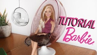 TUTORIAL: Sedia a sfera per Barbie o altre bambole / Ball Chair for Barbie or other dolls