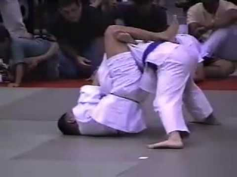 BJ Penn as BJJ white belt against a blue belt Image 1