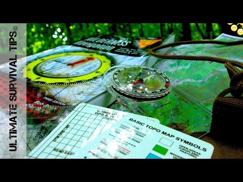 DIY - Camping / Survival Compass Kit - 7 Items You Need - For Wilderness Navigation