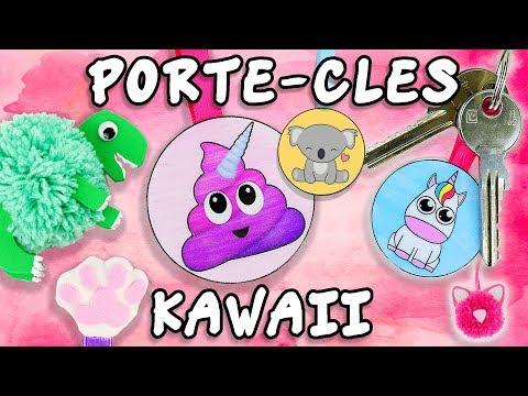 PORTE CLE KAWAII ANIMAUX DIY FACILE
