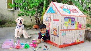 Trò Chơi Phòng Khám Nhà Lều Thú Cưng ❤ ChiChi ToysReview TV ❤ Đồ Chơi Trẻ Em Baby Doli