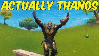 THANOS WASNT CLICKBAIT - Fortnite Funny Moments #15