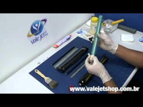 Vídeo Recarga Toner HP CP1215   1515   CM1312 - Vídeo Aula Valejet.com