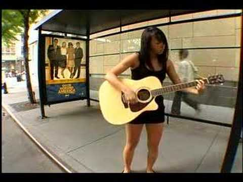 Guitar Woman Waits for Bus,Music Music Videos