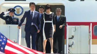 Japanese PM Shinzo Abe arrives in Florida