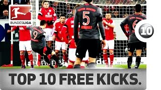 Top 10 Free Kicks of 2016/17 So Far ... - Lewandowski, Rodriguez, Risse & Co.