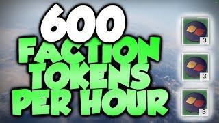 THE BEST FACTION TOKEN FARM! 600+ TOKENS PER HOUR! [Destiny 2]