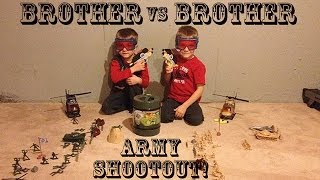 Brother VS Brother: Plastic Army Men Nerf SHOOTOUT!