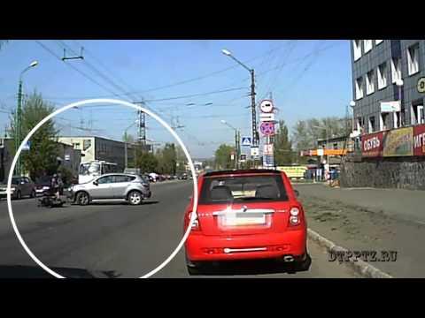 Авария со скутером в Петрозаводске 20 05 2014