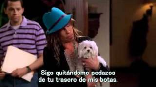 Steven Tyler en Two and a half men. (Sub en español)