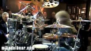 NAMM13 Tommy Aldridge plays Yamaha Custom Live Oak kit