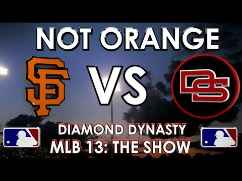 NOT ORANGE! - San Francisco Giants vs. The Dunbar Snackbars: MLB 13 The Show - Diamond Dynasty