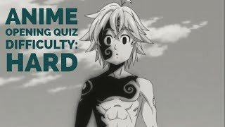 Anime Opening Quiz | 35 Openings | Difficulty: Hard