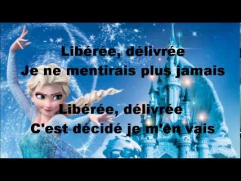 la reine des neiges lib r e d livr e lyrics autre version youtube. Black Bedroom Furniture Sets. Home Design Ideas