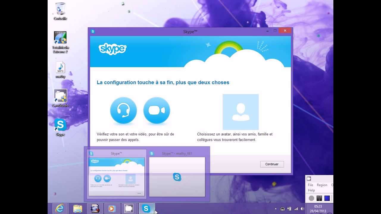Installer skype bureau windows 8 youtube for Bureau windows 8