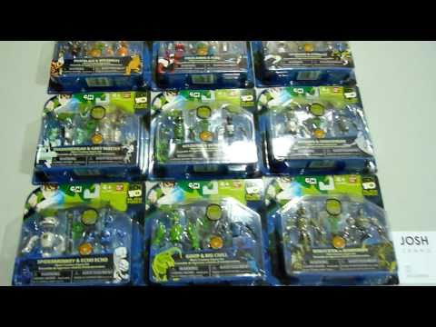 BEN 10 ALIEN CREATION COLLECTION - SET OF 9.