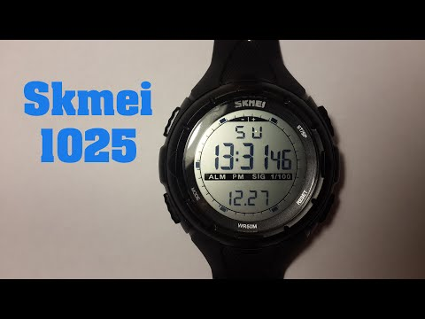 Часы Skmei 1025 обзор, настройка, проверка на водонепроницаемость.