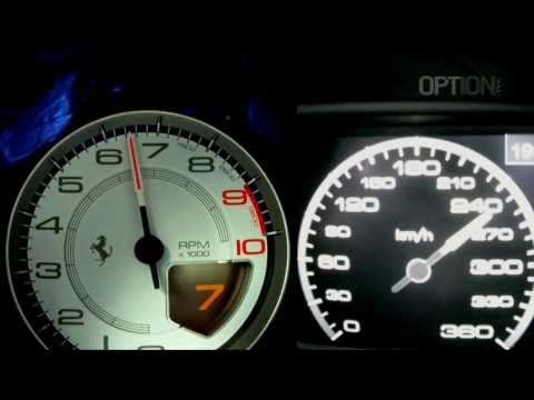 Ferrari 458 Italia Speedometer Km/h en Ferrari 458 Italia