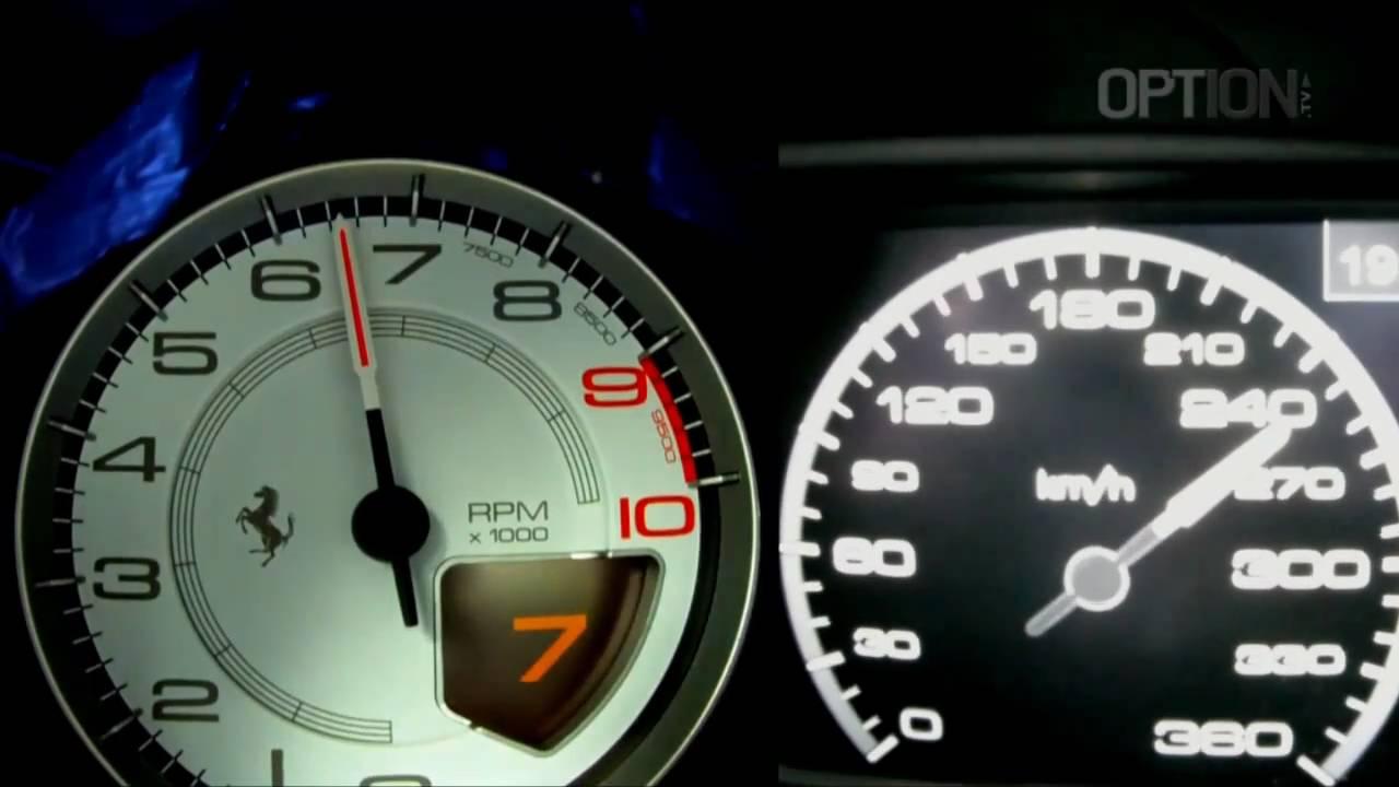 Ferrari 458 Italia Speedometer 290 Km/h en Ferrari 458 Italia