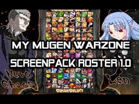 My Mugen WarZone Screenpack Roster 1.0