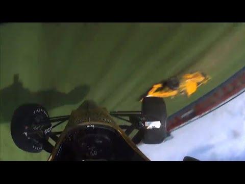 Ryan Briscoe & Ryan Hunter-Reay Incident At Auto Club Speedway