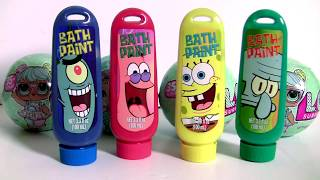 LOL Bath Paint Surprise with Peppa Pig Learn Colors LOL Lil Outrageous Littles Lil Sisters Series 2