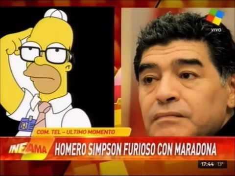 Homero Simpson destrozó a Maradona: Es más inútil que yo porque dice puras tonterías