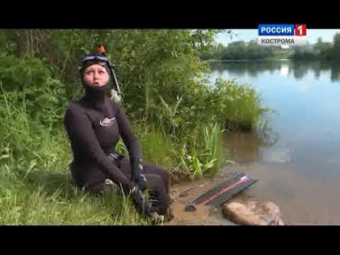Костромские дайверы вытащили из озера в Красносельском районе две машины мусора
