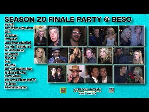Julianne Hough's very revealing dress, Derek Hough; Bachelor, DWTS FINALE Party Sea. 20