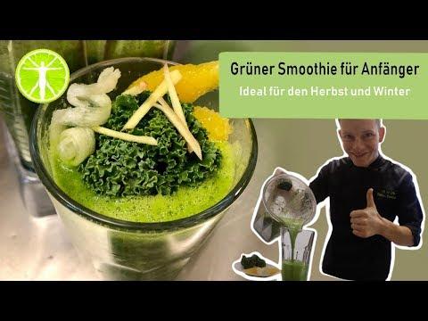 Grüner Smoothie für Anfänger im Herbst und Winter! Gesunde Ernährung | Abnehmen Gesundheit | Fitness