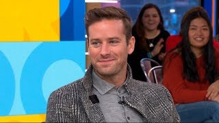 Armie Hammer dishes on