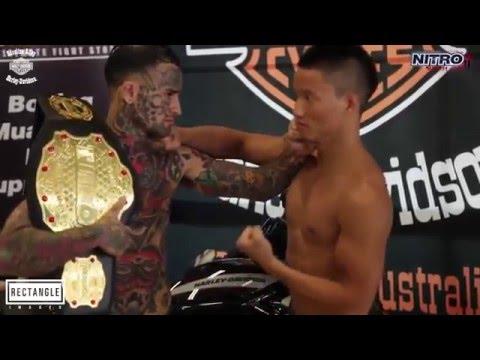 Татуированный быкует и отхватывает за 20 сек !!! UFC