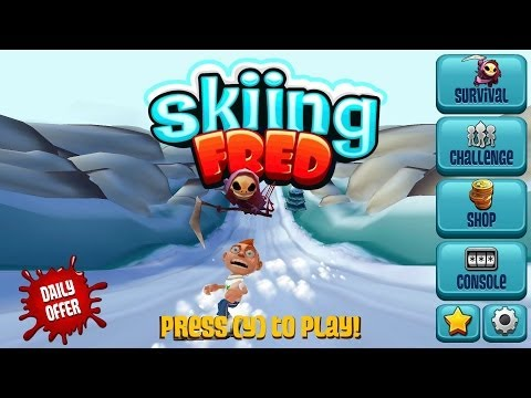 Skiing Fred - Quick Try for the OUYA